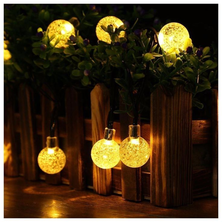 Solar String Led Lights Waterproof Outdoor Globe Lights 20ft 30 LED Fairy Ball