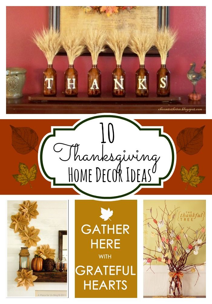 58 best home decor thanksgiving images on pinterest for Thanksgiving home decorations
