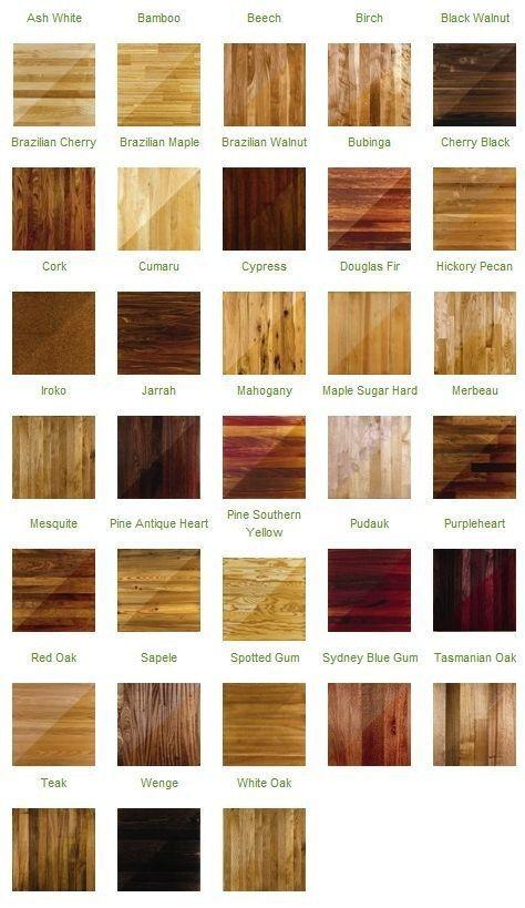 Los colores de la madera dura