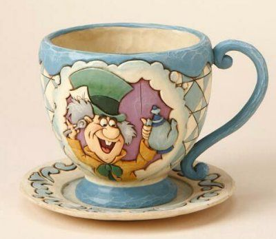 Enesco Disney Traditions by Jim Shore Alice In Wonderland Mad Hatter / March Hare planter from Fantasies Come True