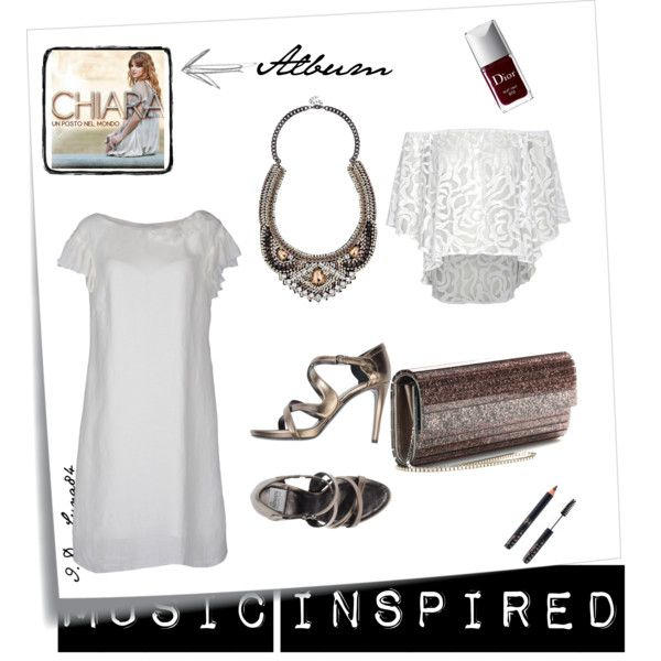 """""""Outfit inspired by Records- Chiara, Un posto nel mondo [Italy]"""" by luna84 on Polyvore"""