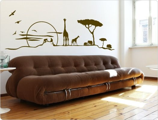 Afrika Wandtattoo Savanne