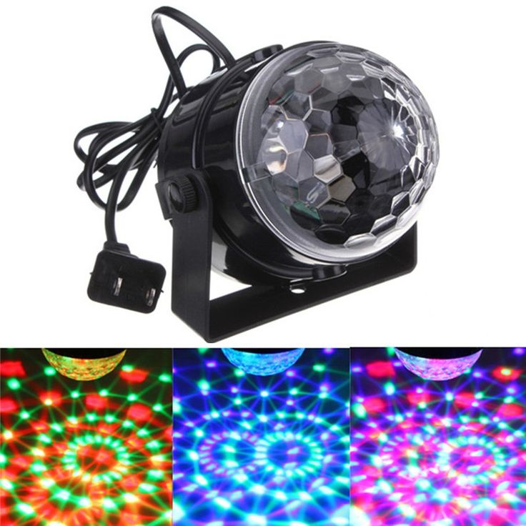 5 W LED RGB Światła Etapie Auto Voice Control Kryształ Magia Ball Stage Lighting Effect DJ Party Disco Club Decor Lampy AC110-240V