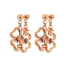 100€ Τα επιχρυσωμένα ροζ  σκουλαρίκια από τη συλλογή Aegean Heart θα μεταμορφώσουν το στυλ σας στη  στιγμή. Το εντυπωσιακό τους μοτίφ θα αναβαθμίσει ακόμη και τις πιο απλές σας  εμφανίσεις.