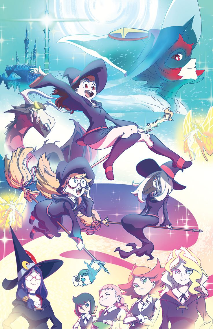 Little Witch Academia is so great! Here's my print of all the best witches!