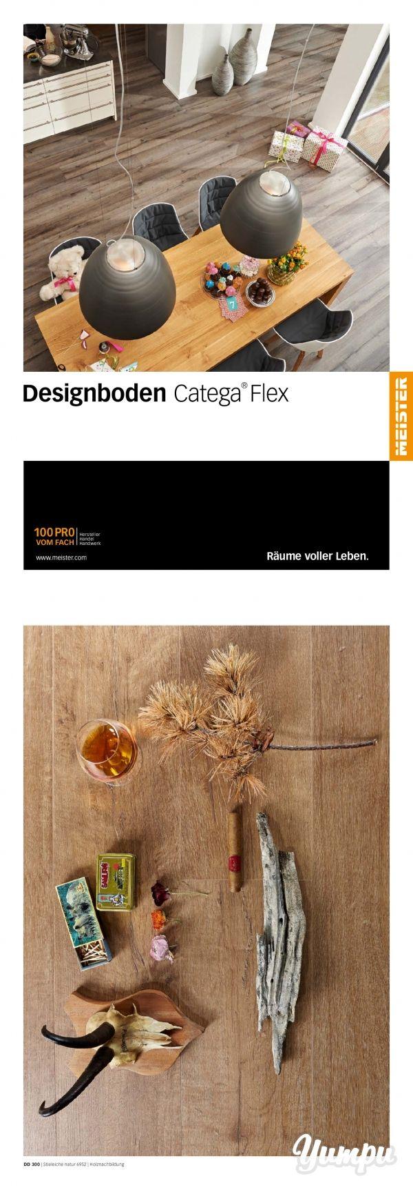Designboden Catega Flex -  In diesem Prospekt erfahren Sie alle Details zu den Designböden Catega flex der Firma Meister.