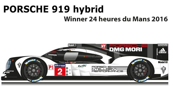 PORSCHE 919 hybrid n.2