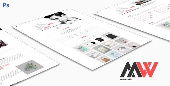 Workfolio - Personal Portfolio PSD Template PSD Templates / Creative / Portfolio by GomalThemes
