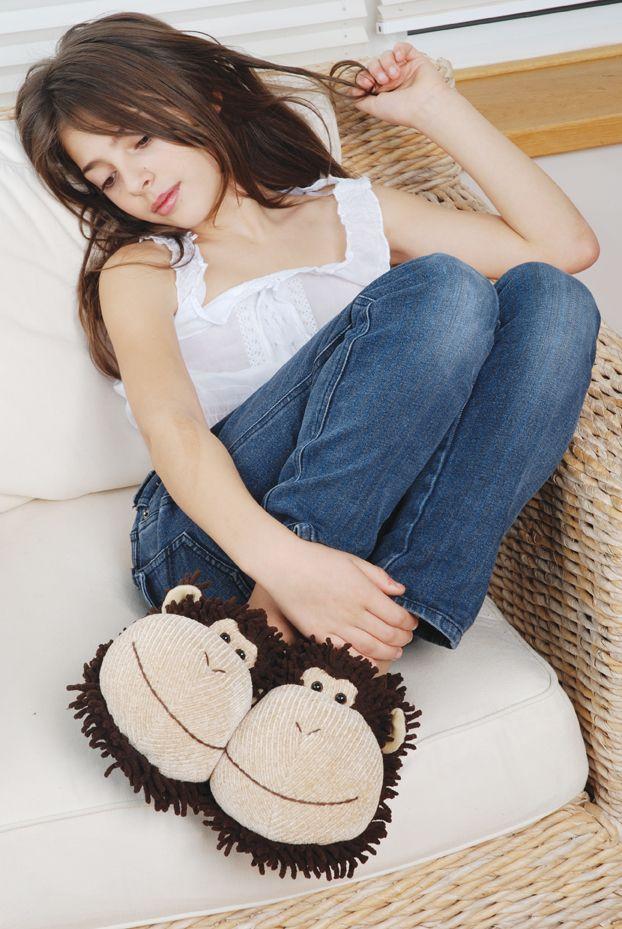 #Pantofle dla dzieci. Małpki, Aroma Home