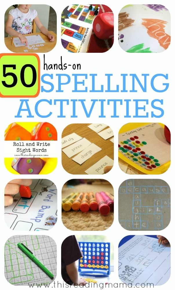 Focusing on spelling helps kids become better readers! Here are 50 hands-on spelling activities for both phonics and sight words, perfect for young kids.