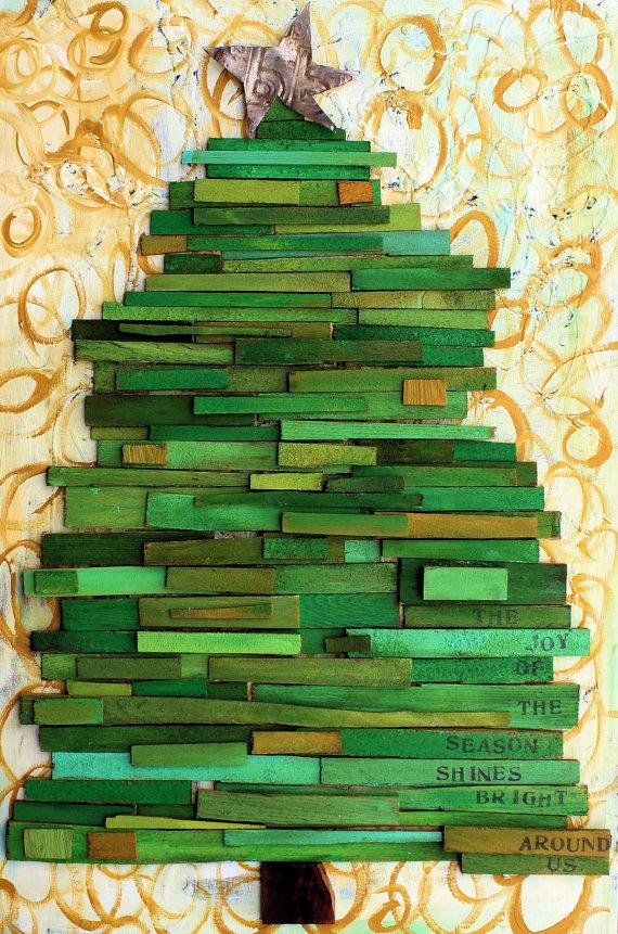 wood-scrap tree