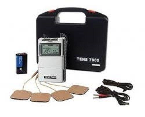 The TENS 7000 device includes lead wires, four self-adhesive reusable electrodes, 9V battery, hard plastic carrying case and instruction manual. The TENS unit 7000 is one of the most popular TENS Unit systems to this date. | eBay!