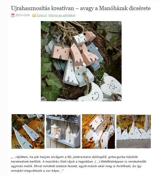 Újrahasznosítás kreatívan - avagy a manóházak dicsérete. Kattints a linkre a teljes cikkhez >> www.eradekor.hu/kezmuves-ajandek-2/ujrahasznositas-kreativan-manohazak/