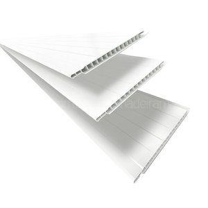 Forro Linear de PVC Polifort 8mm x 20cm x 3m (m²) Branco Neve em Forro de PVC na MadeiraMadeira