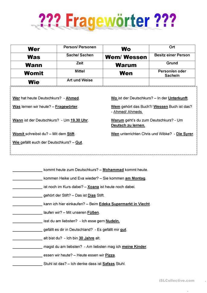192 besten Deutsch worksheets Bilder auf Pinterest | Arbeitsblätter ...
