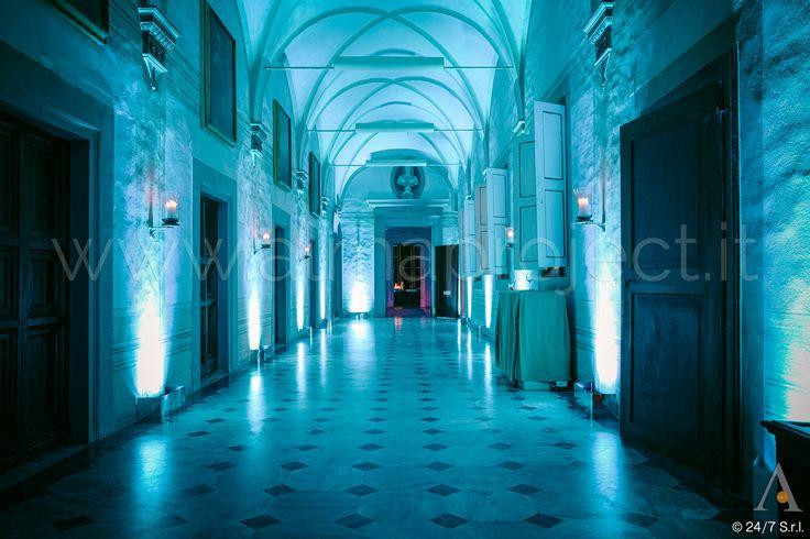 ALMA PROJECT @ Villa Corsini - Androne - Light Blue - Led bars mirror cover - 170527 - 133