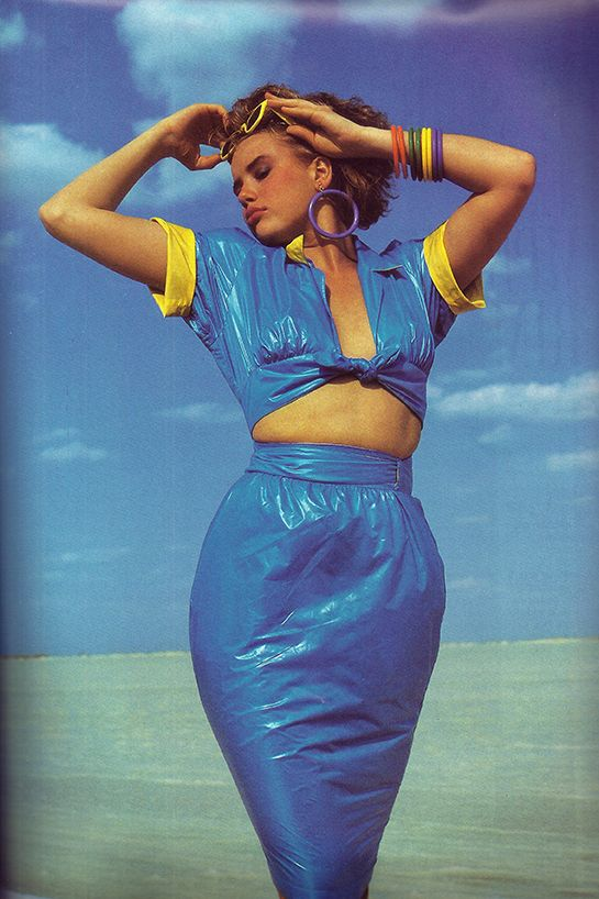 Alexis Stroukoff, Vogue Paris Mai 1985, Thierry Mugler, Colombia