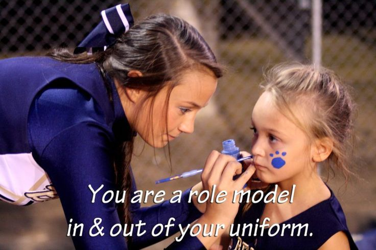 Cheerleaders should always be role models