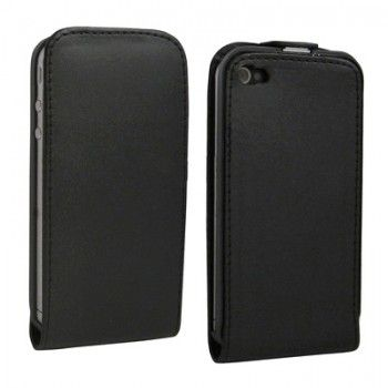 Black Flip Leather Case for iPhone 4 & 4S