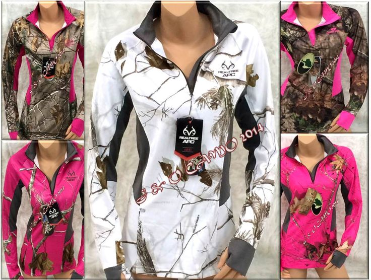 NEW! Women's Realtree Mossy Oak Snow White Hot Pink Camo Jacket S M L XL 2XL #RealtreeMossyOak #BasicJacket