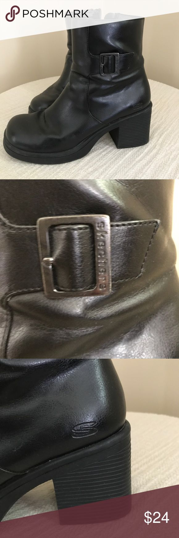 Black Boots Gently used. See photos for any defects. Bundle and save! Sketchers Shoes Ankle Boots & Booties