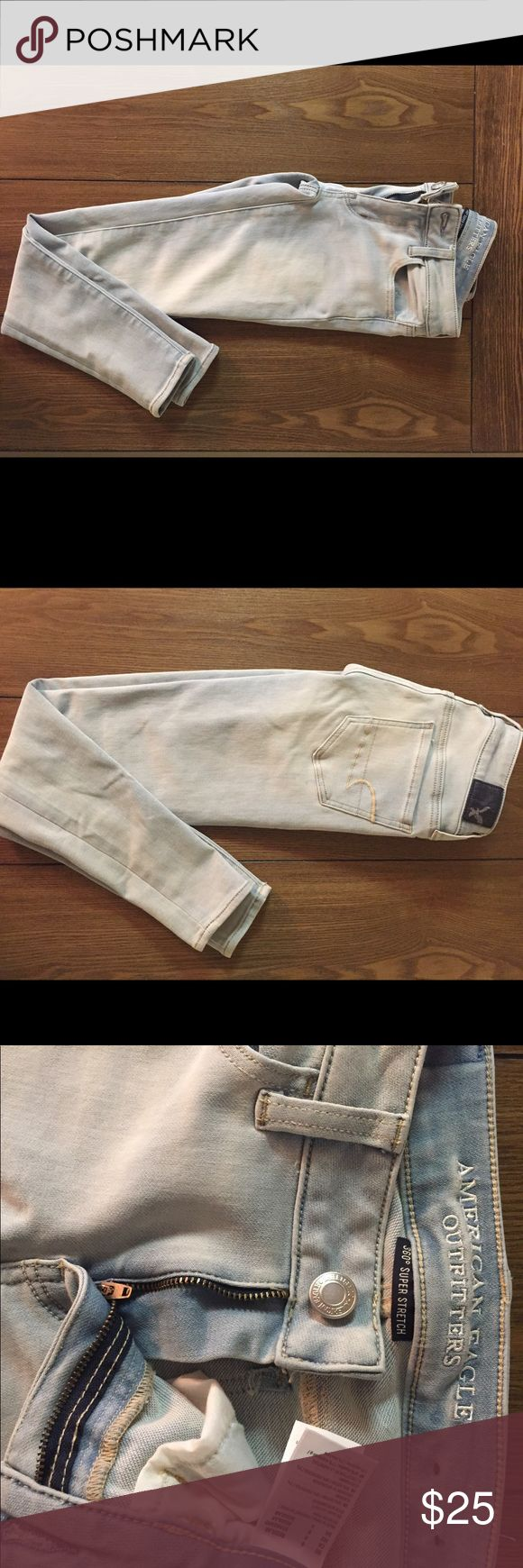 American Eagle 360 super stretch size 0 jeggings American Eagle 360 super stretch size 0 light blue high waisted jeggings American Eagle Outfitters Jeans Skinny
