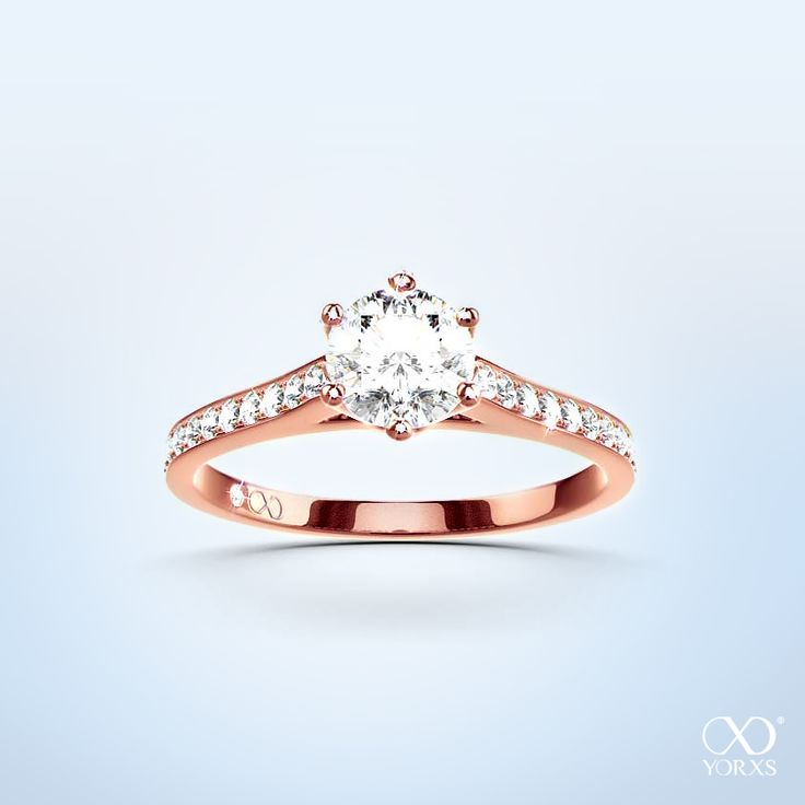 """""""Elegea"""" in redgold with a diamond of your choice! #sommer #rotgold #rosegold #diamanten #paveering #verlobungsring #yorxs"""