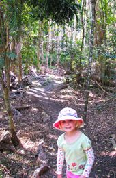 Visitors of all ages enjoy The Palms' short circuit track. Photo: K. Smith, Qld Govt.