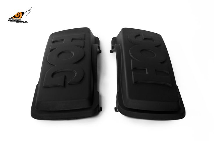 RS hard saddlebag lids hog design for touring 1993-2013 Image