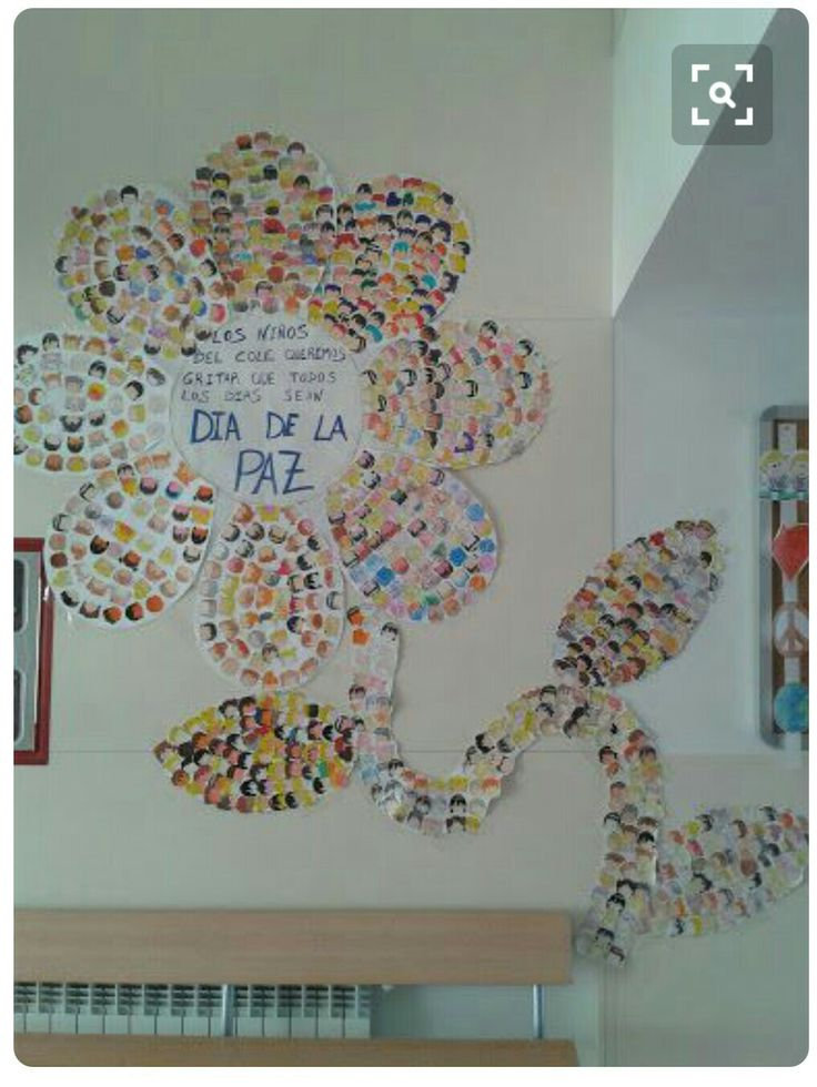 Mural flor de la paz