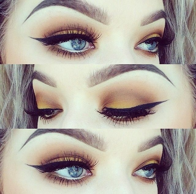 Obsesses with this winged eyeliner look!!