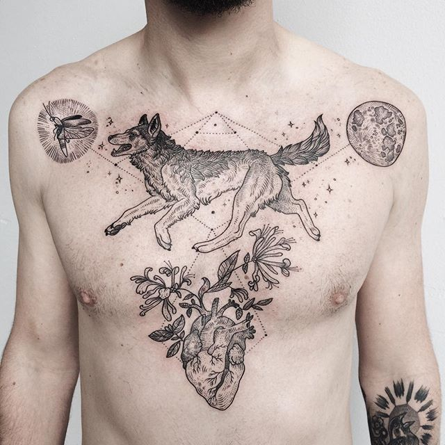 20 Wolf Tattoos Girls Heart Ideas And Designs