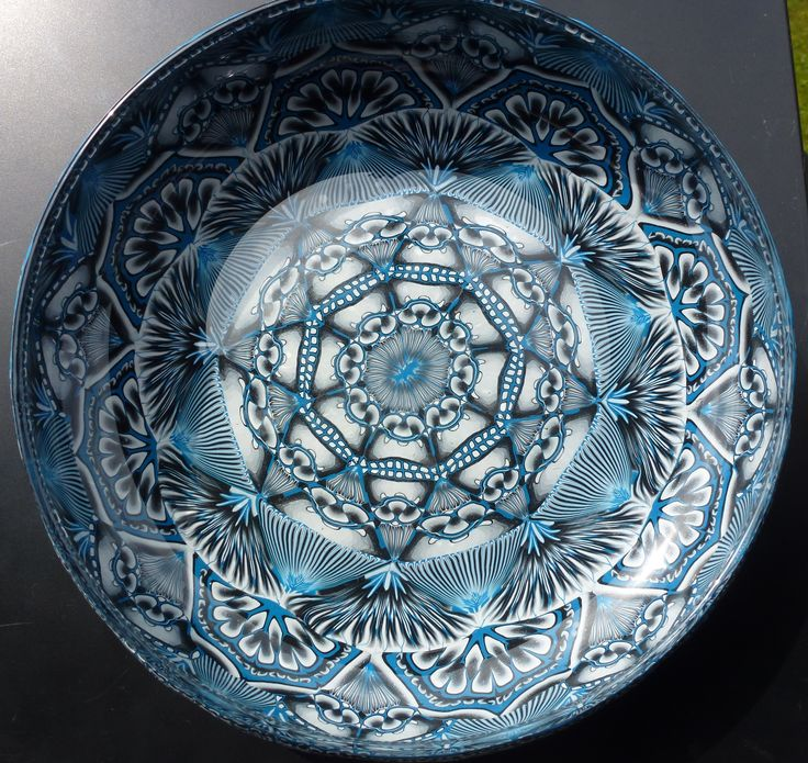 Bowl made from polymer clay on glas