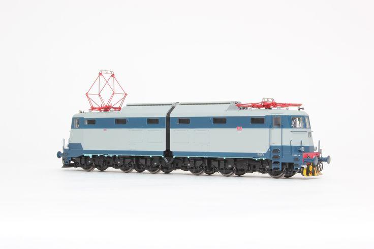 HL2614 - Locomotiva Elettrica FS E.636.080 Livrea blu orientale/grigio perla con logo FS grigio. Ep. IVb. Dep. Verona.