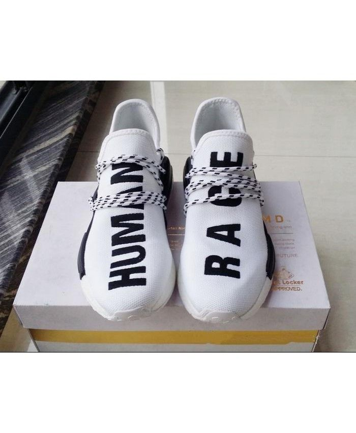 9371f5e78213 Cheap Adidas NMD Human Race Pharrell White Sale UK