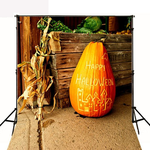 Halloween Photography Backdrops Big Pumpkin Retro by ArtBackground
