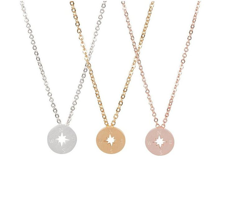 Compass Necklaces, Graduation Gift, Dainty Gold Compass Necklaces, Fashion…