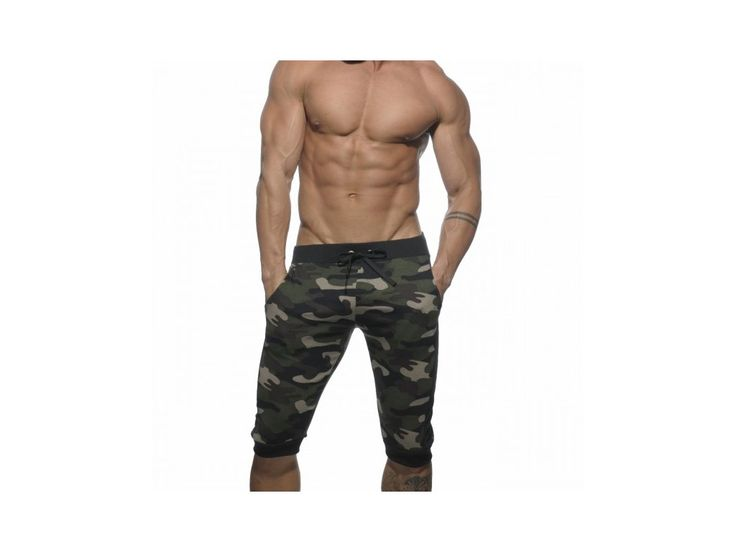 Pánské kraťasy ES Collection MILITARY SWEAT PANT - kaki