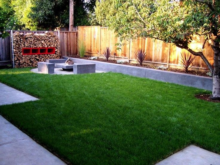 Landscaping Ideas For Backyard 51 front yard and backyard landscaping ideas landscaping designs Small Yard Landscaping Idea Like The Minimal Firepit Area Landscaping Ideas For Small Backyard