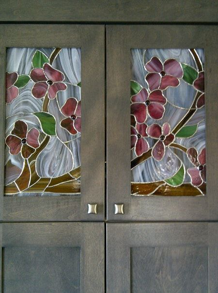 Stained glass no.1 and 2 of 6 (Kitchen cabinets)