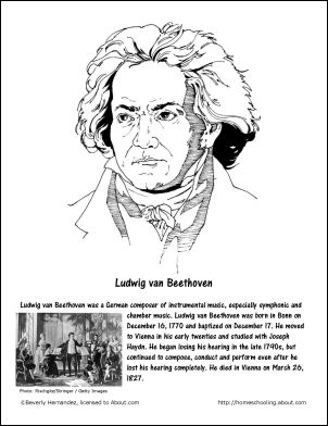 december worksheets and coloring pages ludwig van beethoven coloring page fourth pinterest worksheets teaching kids and students