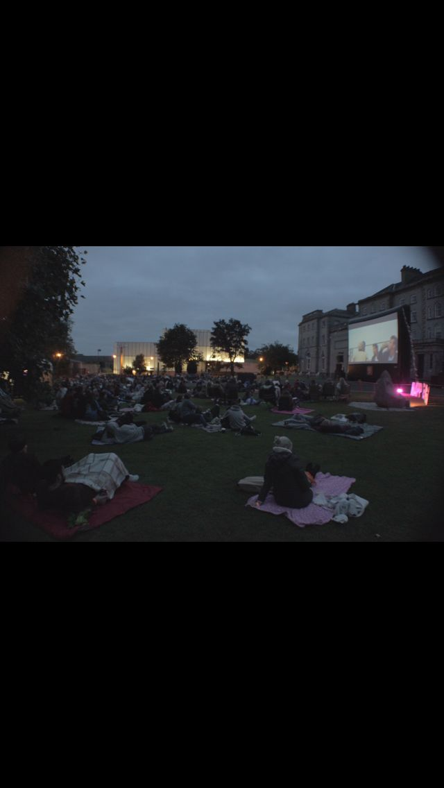 Outdoor cinema at carlow arts festival #happenings #carlowartsfestival #carlow #outdoorcinema