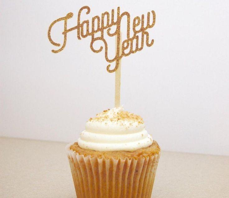 cupcake de Nouvel An en quelques idées glamour  Glamour, Cupcake ...