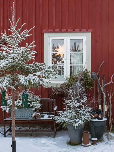 Anna Truelsen inredningsstylist: Stämningsfull julträdgård i Dalarna