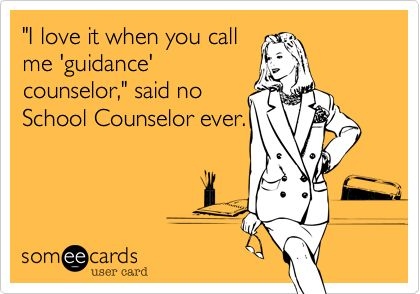 "So true! If I could repin this 50x a day I would.  There is a difference and proud to be a ""SCHOOL COUNSELOR"".  Ok done :0)"