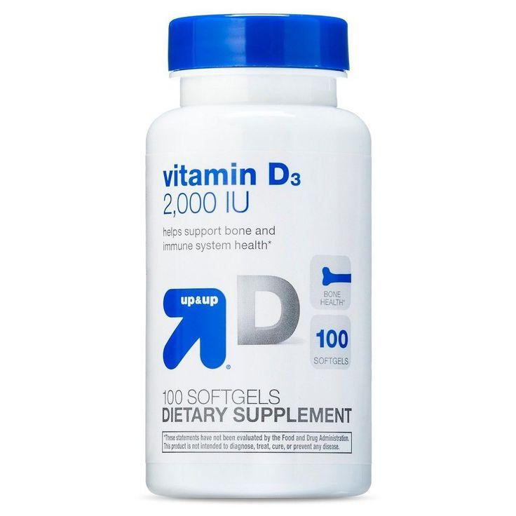 Vitamin D 2,000 IU Softgels - 100 Count - up & up