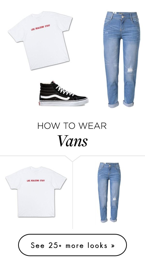 """kylie"" by fujianiya on Polyvore featuring WithChic and Vans"