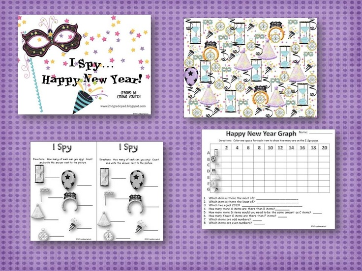 I Spy...Happy New Year! (With images)   Classroom freebies ...