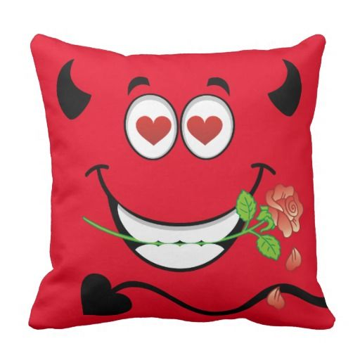 love devil square pillow