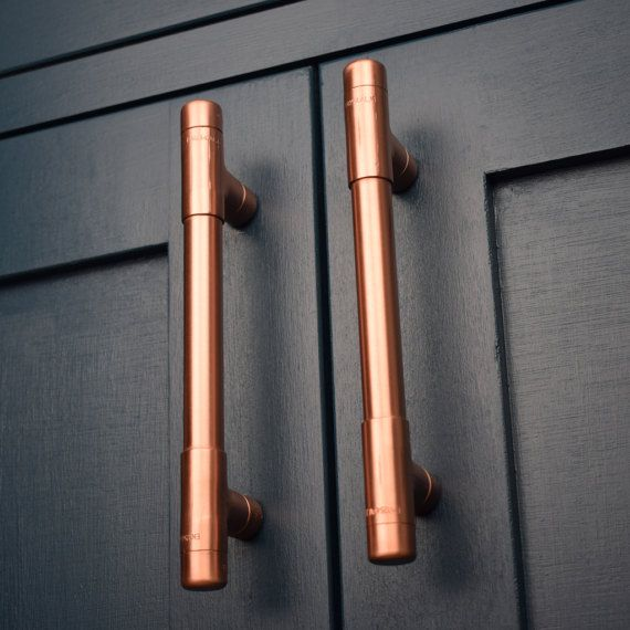 Modern, Copper T Pull Handle. Drawer Pull. Cabinet Hardware. Kitchen Cupboard. pulls. Cabinet Pull. Drawer Handles. Knobs and Pulls
